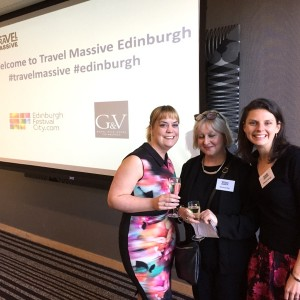 lesley judge, susan russell and katy duncan ready for travel massive edinburgh
